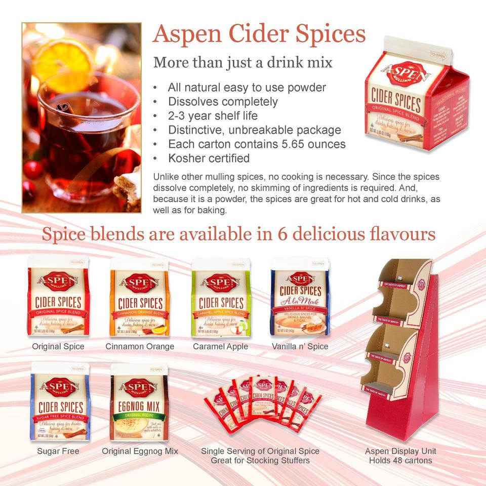 We   re often asked for the Aspen drink recipe we serve at trade shows and we   re happy to share. Combine in the urn     ...